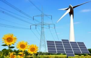 Strom durch Sonne und Windkraftanlagen ist umweltschonend